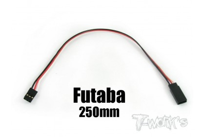 T-WORKS EA-006 FUTABA EXTENSION WITH 22 AWG HEAVY WIRES 250MM