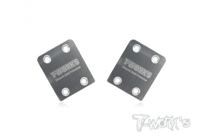 T-WORKS TO-220-HB STAINLESS STEEL REAR CHASSIS SKID PROTECTOR FOR HB RACING 2PCS