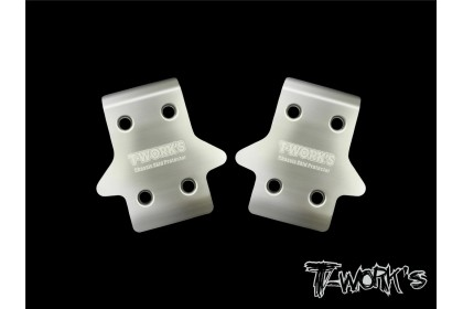 T-WORKS TO-235-MBX8 STAINLESS STEEL FRONT CHASSIS SKID PROTECTOR FOR MUGEN 2PCS