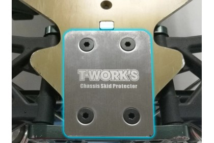 T-WORKS TO-220-K STAINLESS STEEL REAR CHASSIS SKID PROTECTOR FOR KYOSHO 2PCS