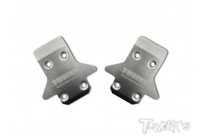 T-WORKS TO-235-K STAINLESS STEEL FRONT CHASSIS SKID PROTECTOR FOR KYOSHO 2PCS