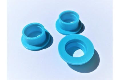 TQ TOP QUALITY EXHAUST SILICONE SEAL FOR 1/8 BLUE 3PCS