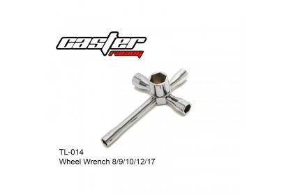 CASTER RACING TL-014 WHEEL WRENCH 8 / 9 /10 / 12 / 17MM