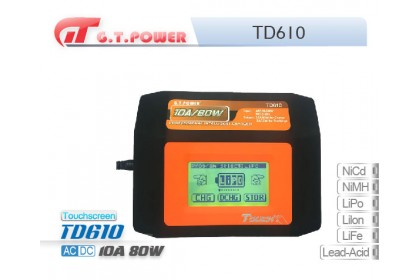 GT POWER TD610 CHARGER FOR Ni-Cd/Ni-MH/Li-Po/Li-lon/Li-Fe/Lead-acid